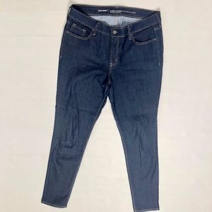Old Navy Super Skinny Mid Rise Dark Wash Jeans